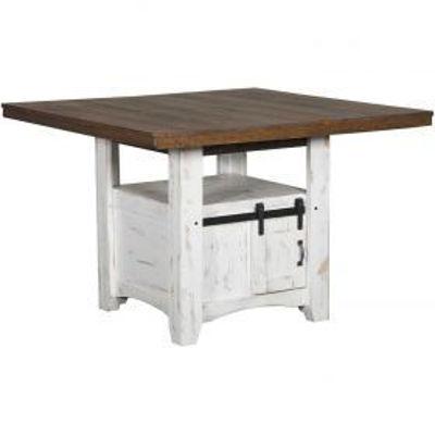 Picture of PUEBLO COUNTER TABLE BASE, WHT