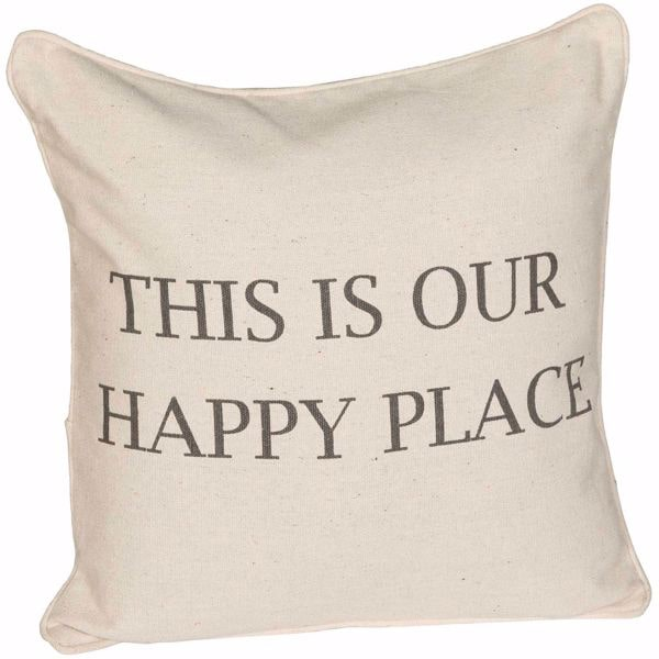 HAPPY PLACE 20X20 PILLOW