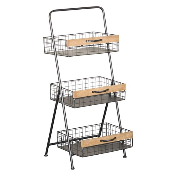 THREE TIER METAL WIRE RACK