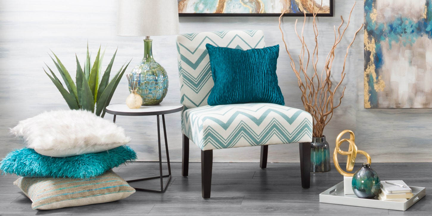 Teal Accent Pillow