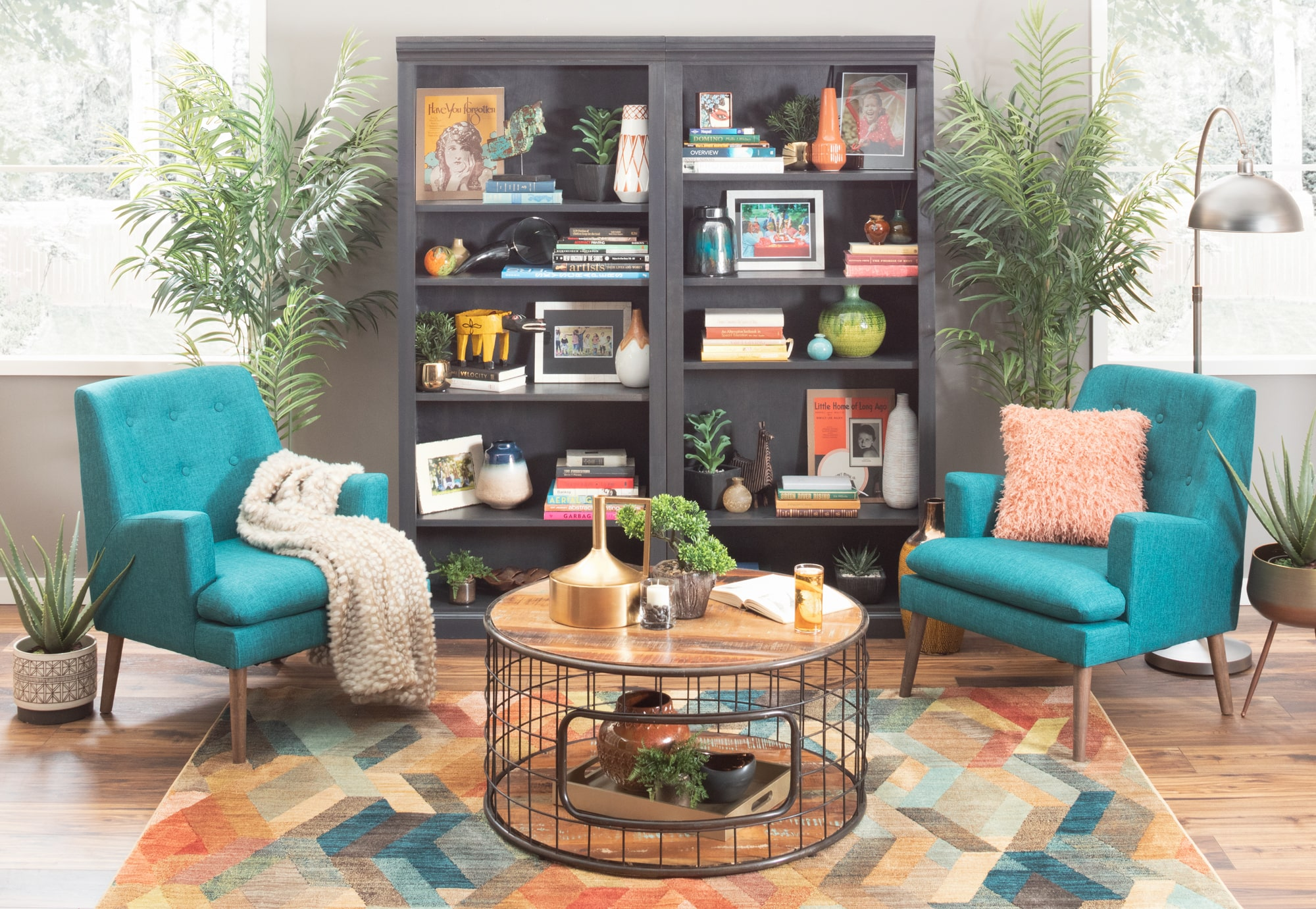 Eclectic one-of-a-kind reading nook